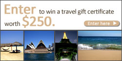Enter to win a travel gift certificate worth $250. Enter here